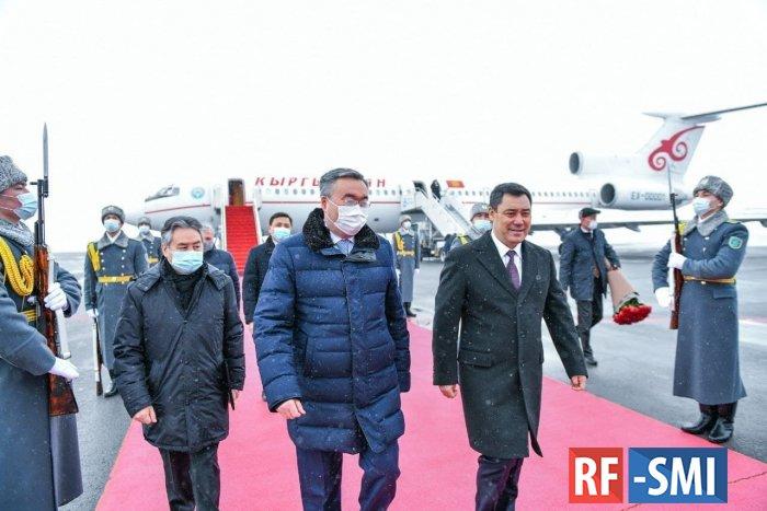 Президент Кыргызстана прилетел в Казахстан