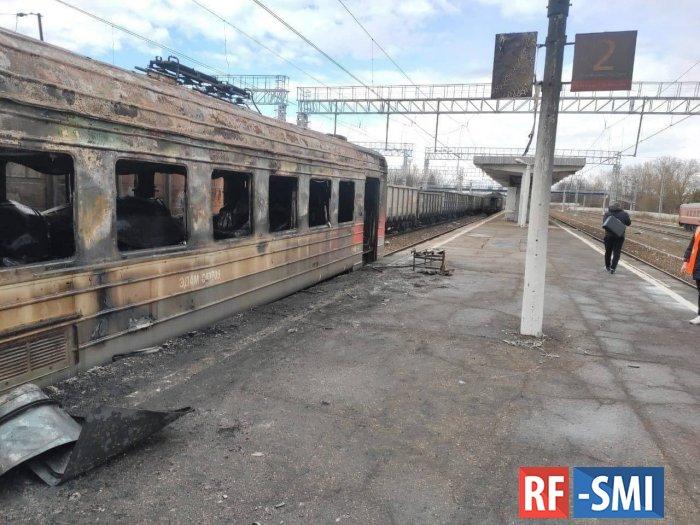 В Калужской области на станции Малоярославец загорелась электричка