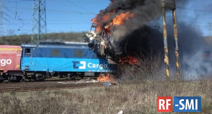 Один человек погиб при столкновении поездов в Чехии