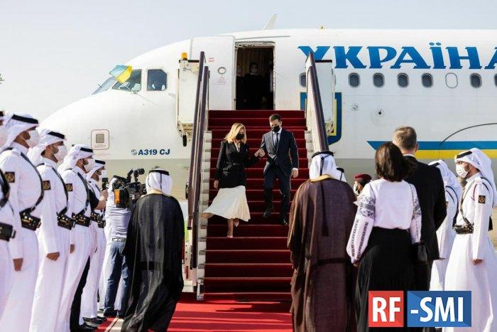 Зеленский с женой прибыл в Катар с официальным визитом, который состоится завтра