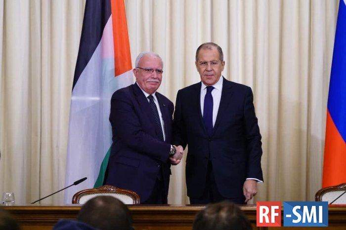 Глава МИД Палестины передал Лаврову письмо Аббаса Путину