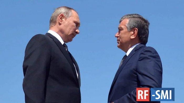 В. Путин поговорил по телефону с президентом Узбекистана