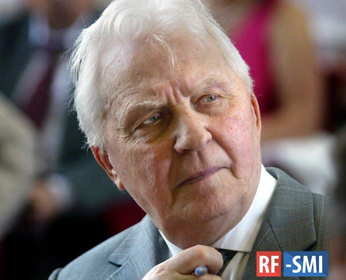 В возрасте 100 лет скончался бывший секретарь ЦК КПСС Егор Кузьмич Лигачев