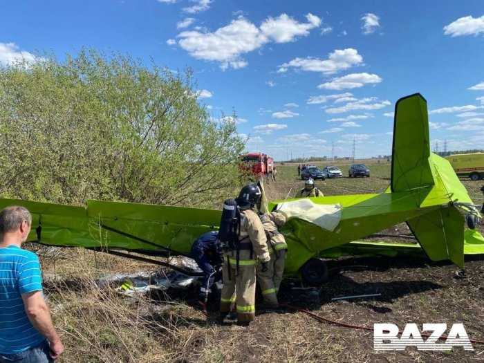 В Татарстане вблизи села Калейкино упал легкомоторный самолёт