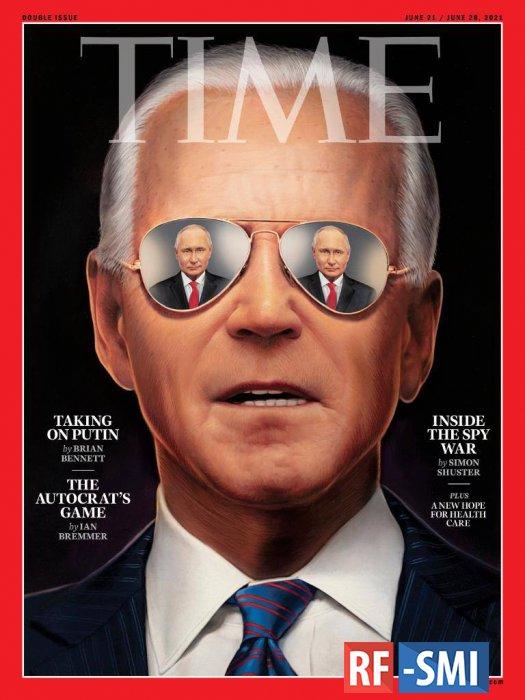 «Байден против Путина» – на обложке журнала TIME.