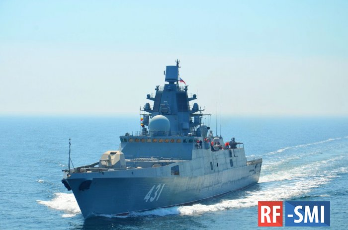 "Фрегат Северного флота ""Адмирал Касатонов"" прибыл в Кронштадт"