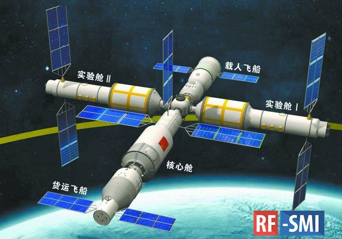 КНР запустила пилотируемый корабль к своей строящейся орбитальной станции