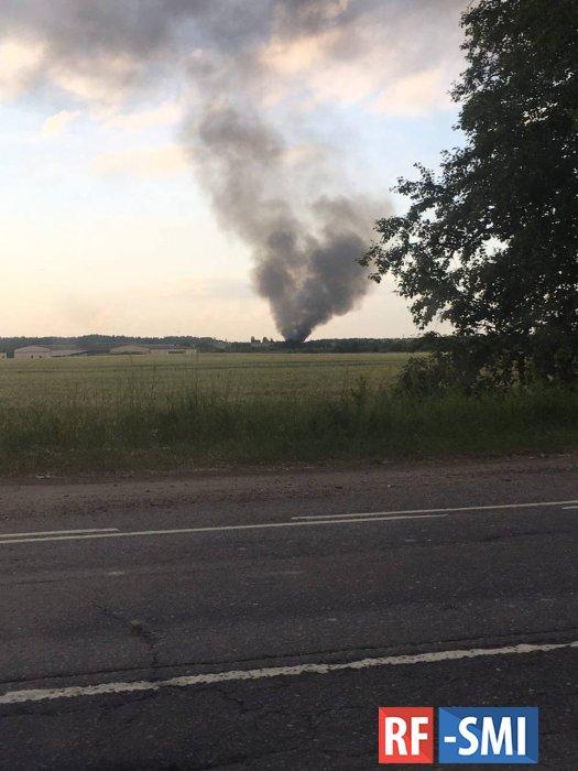 В Ленинградской области упал военный вертолёт