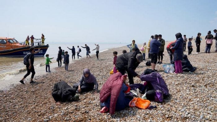 В Великобританию за сутки перебралось рекордное число нелегалов