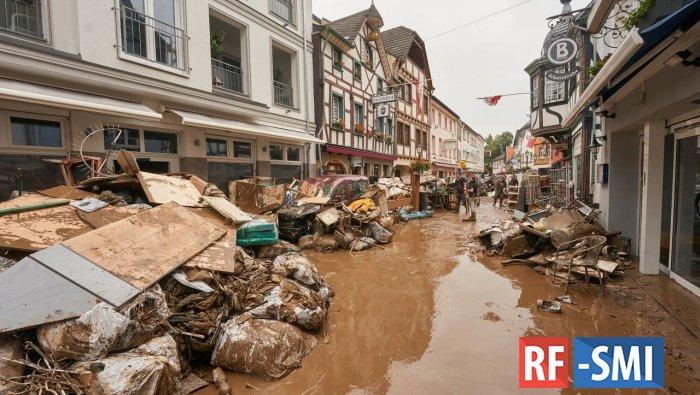Объем помощи пострадавшим от наводнения регионам ФРГ составит около €30 млрд