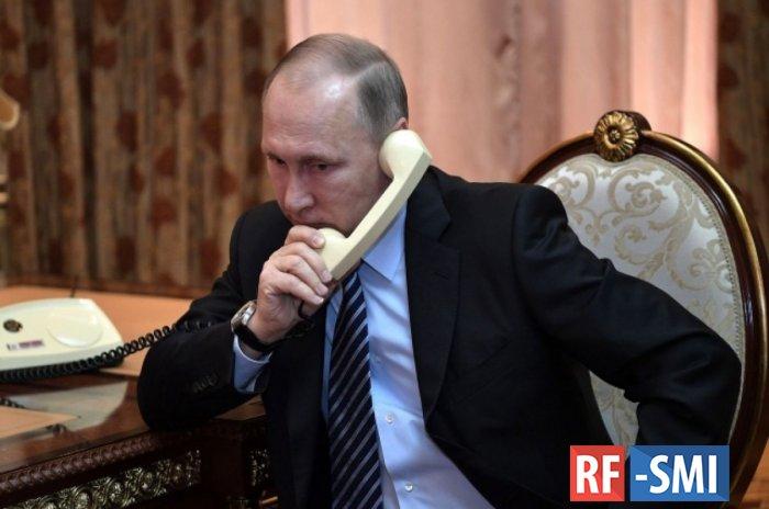 Путин поговорил сПредседателем Европейского совета Шарлем Мишелем: