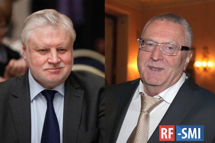 Миронов высмеял планы Жириновского в новой Госдуме