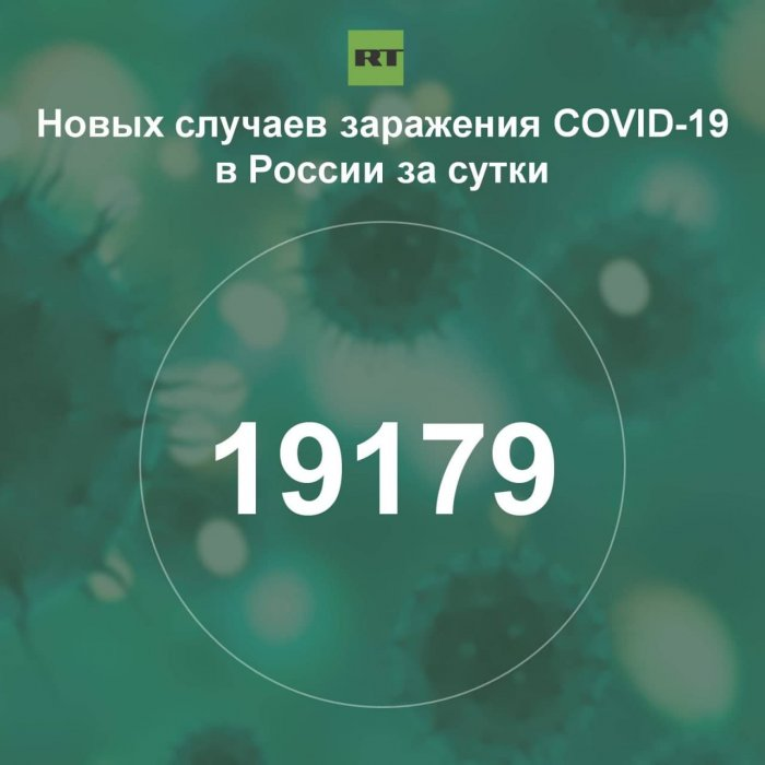 За сутки в России выявили 19 179 случаев инфицирования коронавирусом
