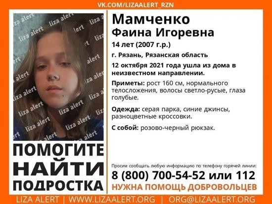 В Рязани пропала 14-летняя девочка Мамченко Фаина