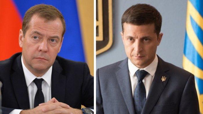 """Д. Медведев дал интервью """"Коммерсанту""""  – персонально о Зеленском:"""