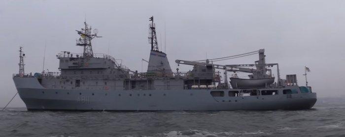 В Чёрном море терпит бедствие корабль ВМС Украины «Балта»